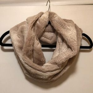 Anthropologie Snow Crushed Faux Fur Cowl Scarf